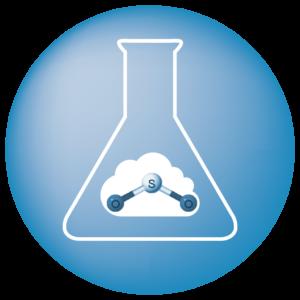 Icona azzurra emissioni SO2