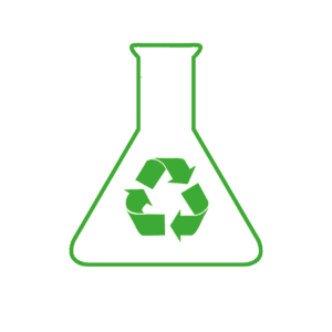 icona verde rifiuti invertita